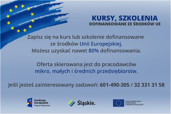 Szkolenia dofinansowane ze środków UE